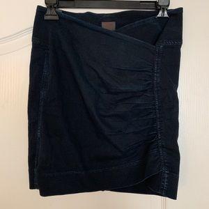 Citizens of Humanity Denim Bodycon Wrap Mini Skirt